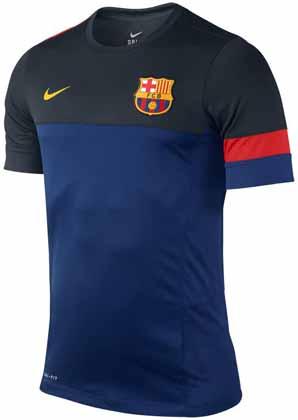 Барселона футболка тренировочная ТЕМНО-СИНЯЯ Nike 2012 13, купить ... d39dc1938bd